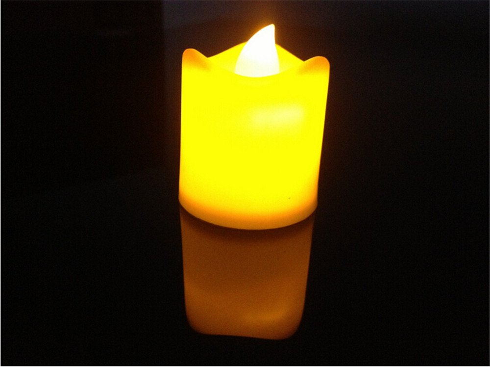Youareking Battery-powered LED Lighted Flickering Votive Style Flameless Candles Tealight Set (6)