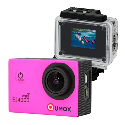 215 opinioni per QUMOX WIFI SJ4000 Pink Action Sport Cam Camera Waterproof Full HD 1080p 720p