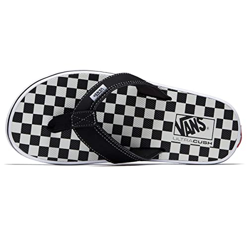 54d2b517f65 Image Unavailable. Image not available for. Color  Vans LA Costa Lite Thong Sandal  Checkerboard Black White ...