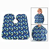 OFKPO Child Salon Hair Cutting Apron Cutting Hair Waterproof Cloth Hairdressing Barbers Cape Gown (Dolphin)