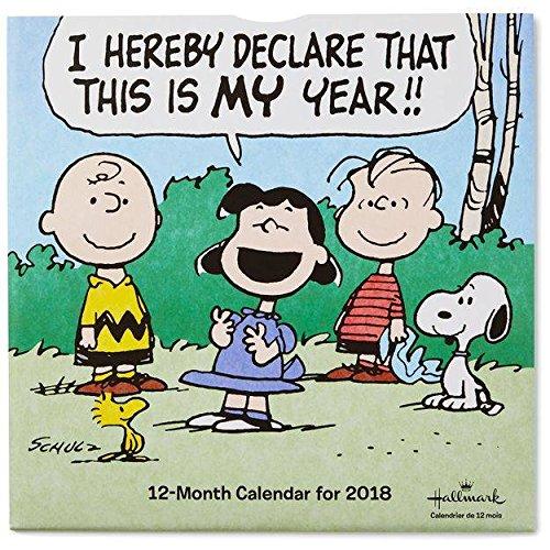 Hallmark Peanuts 2018 Wall Calendar, 12-Month