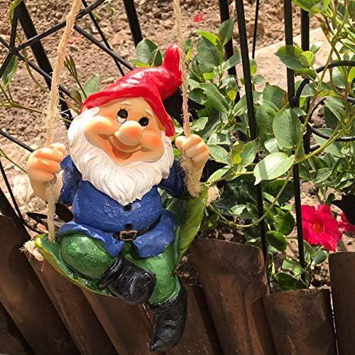 zenggp Jardín Enano Ornamento Hogar Césped Decoración Aire Correa Pared Decorativo Jardinería,Red: Amazon.es: Hogar