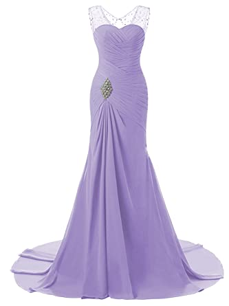 9b0f028c95265 Lily Wedding Womens Mermaid Prom Bridesmaid Dresses 2018 Long Evening  Formal Party Ball Gowns FED003 Lavender