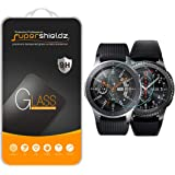 Supershieldz [2-Pack] for Samsung Galaxy Watch (46mm) / Gear S3 Frontier Tempered Glass Screen Protector, Anti-Scratch, Anti-Fingerprint, Bubble Free, Lifetime Replacement