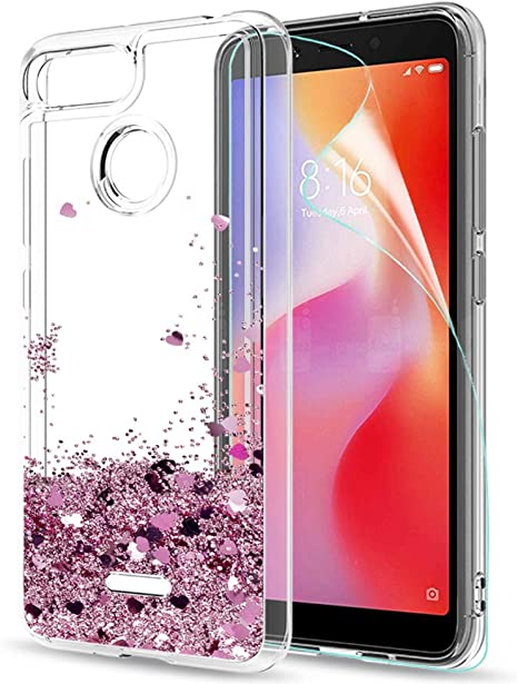 LeYi Funda Xiaomi Redmi 6 / Redmi 6A Purpurina Carcasa con HD ...
