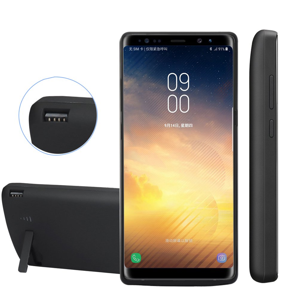 Funda Con Bateria de 6500mah para Samsung Galaxy Note 8 REDGO [78N5R2NZ]