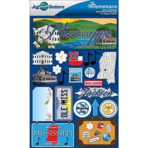 Reminisce Jet Setters 2 3-Dimensional Sticker, - Embellishment Setter Jet