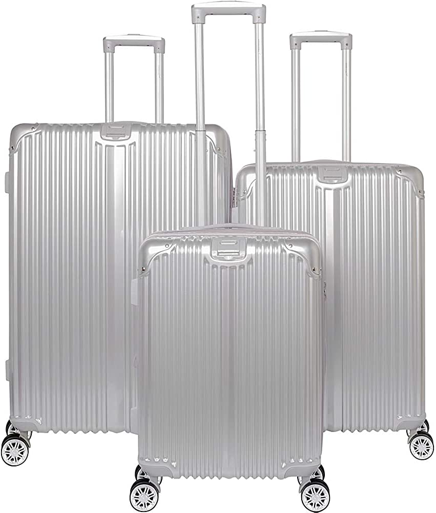 Gabbiano The Macan 3 Piece Expandable Hardside Spinner Luggage Set