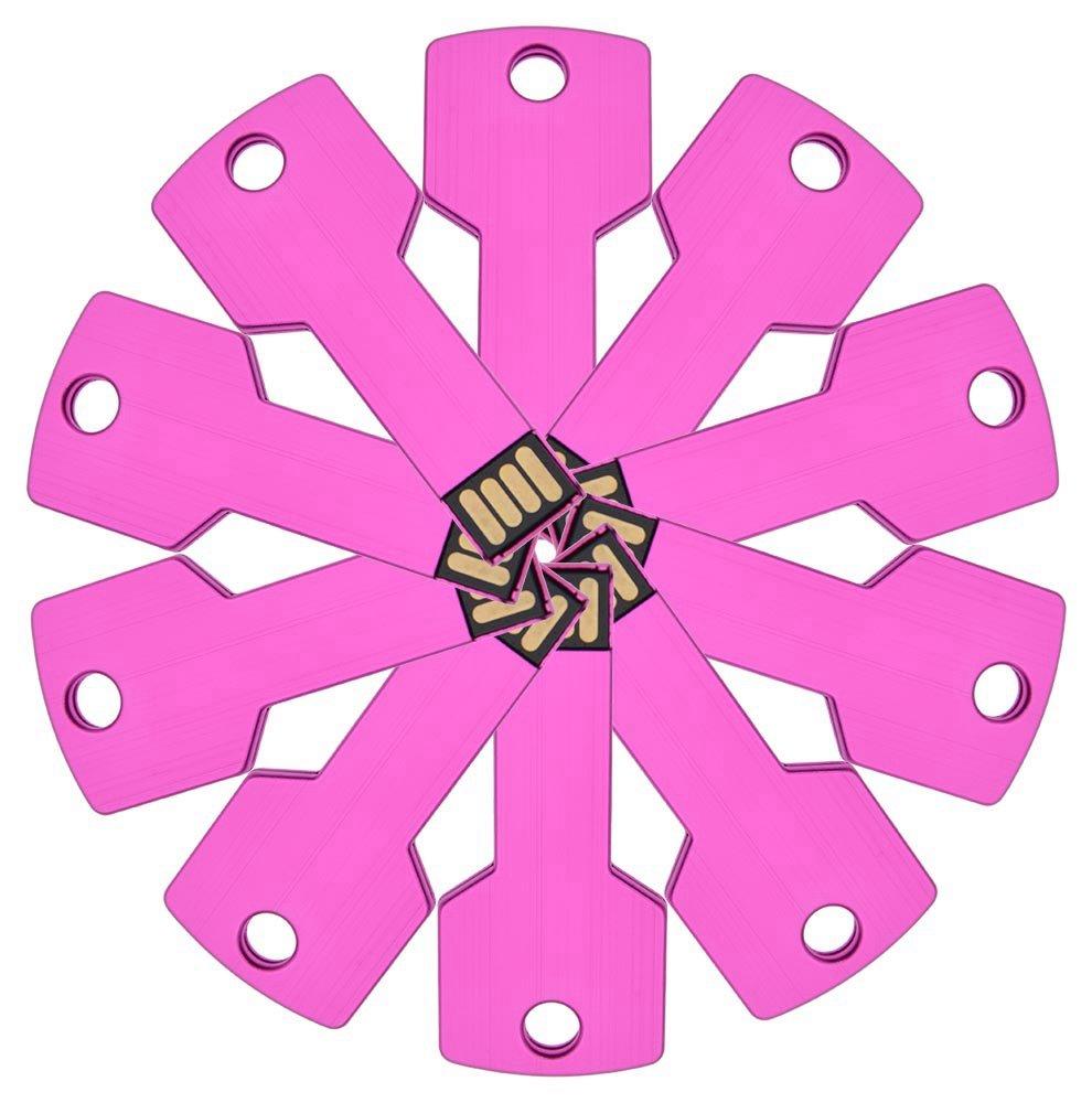 FEBNISCTE 10pcs 8GB Pink Bulk Pack Metal Key USB 2.0 Flash Drive Memory Stick