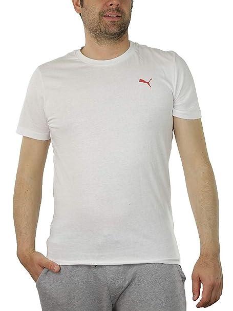 Puma Blank Swiss Tee Herren T Shirt weiß Fairtrade 100