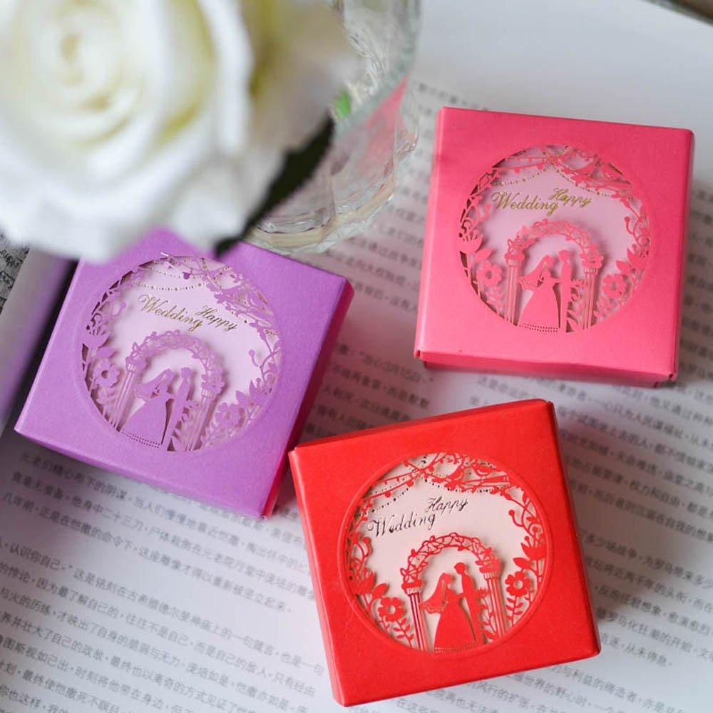 Amazon.com: Moleya 50pcs Wedding Favor Paper Boxes Party Favor Gift ...