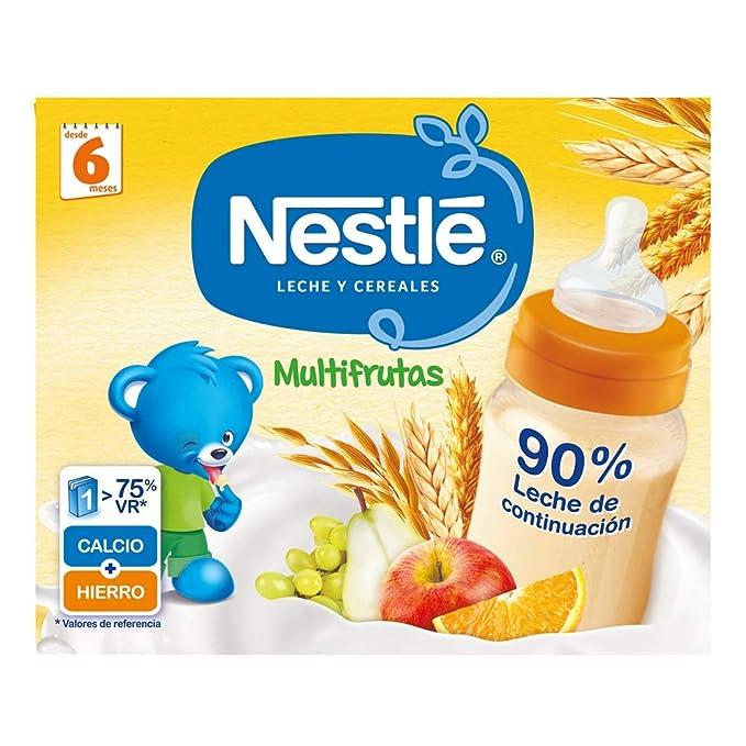 Nestlé Leche y Cereales Multifrutas - Alimento Para bebés - Paquete de 6x2 unidades de 250ml