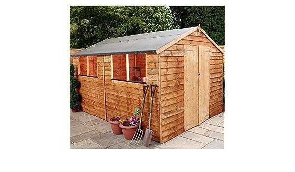 Nova 8 x 10 puerta doble, machimbre cobertizo - Entrega rápida cobertizos - Cobertizos: Amazon.es: Jardín