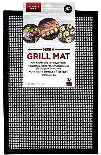 Grill Mat BBQ Tool - Set of 2 - Mesh Grill Mat That Allows Smoke to Pass Through - Non-Stick - Perfect For Grills, Smokers and Ovens