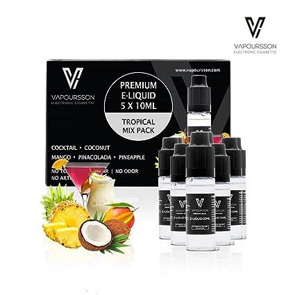 VAPOURSSON 5 X 10ml E-líquido Tropical Pack | Cóctel | Coco | Mango |
