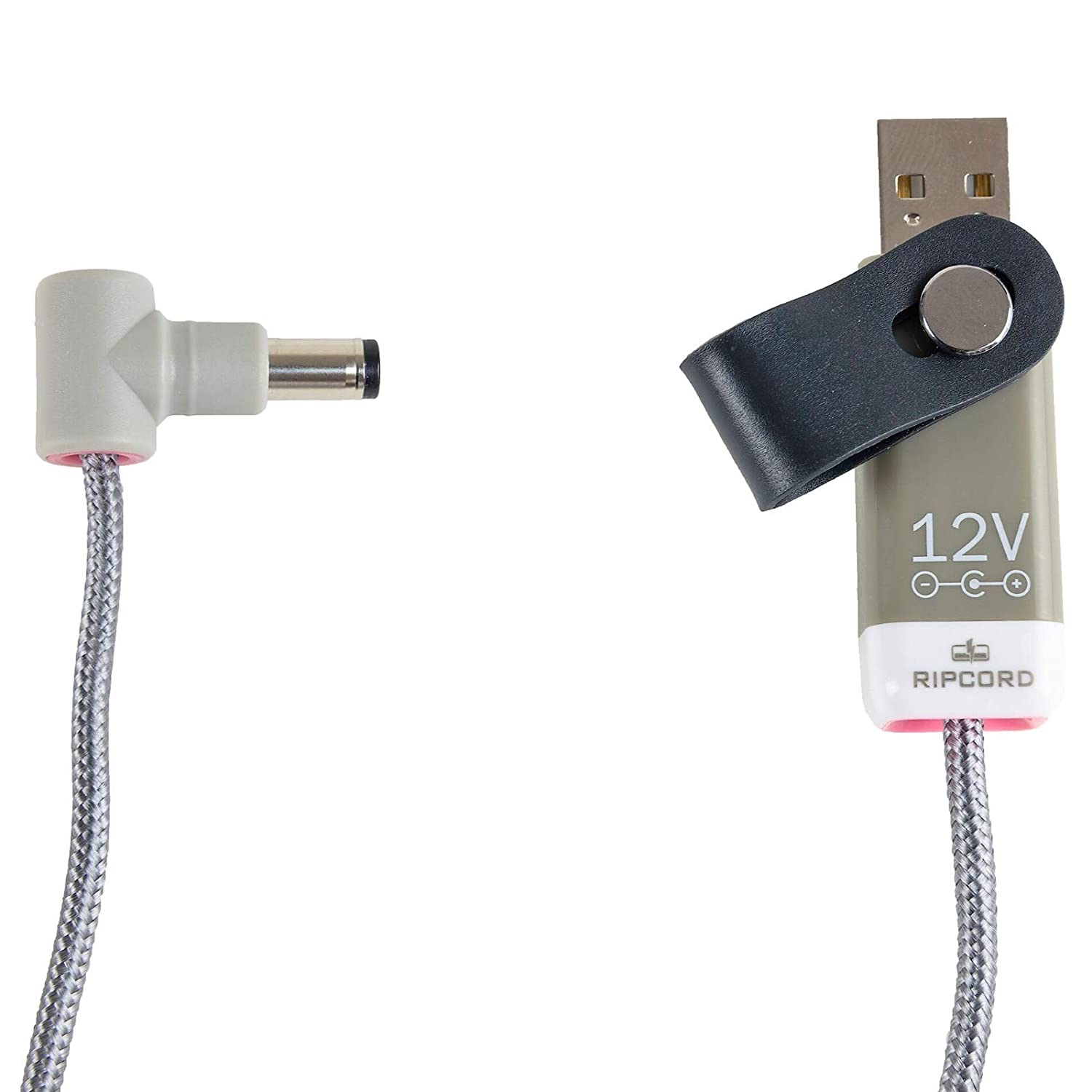 USB to 12V DC power cable compatible with the Elektron Digitakt Drum sampler MyVolts Ripcord
