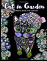 Cat in Garden Coloring Book For Adults: Cats with their hats and Floral in the Garden Theme