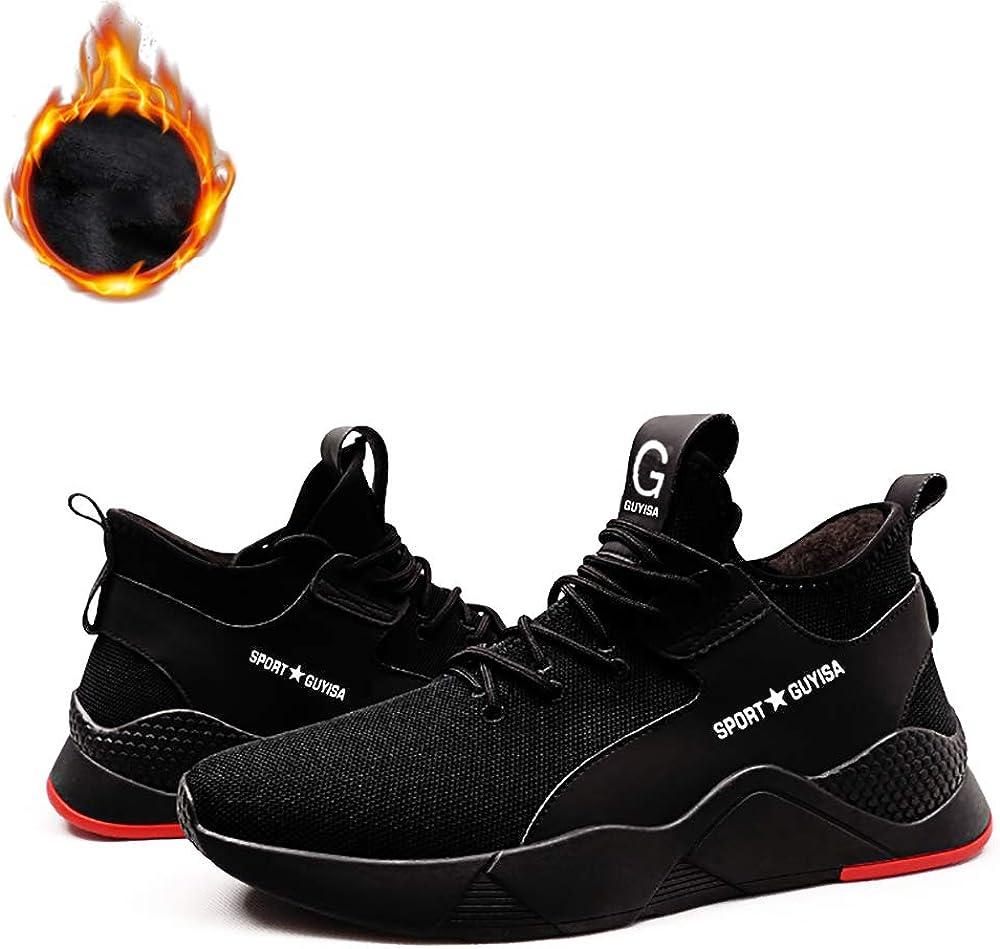 Hiver Chaussures Botte de S/écurit/é en Velours Homme Femme Anti-Froid Chaussures de Travail Baskets Chantiers Industries Chaussure de Protection /à Embout en Acier L/ég/ère Confortable Coque Safety Shoes