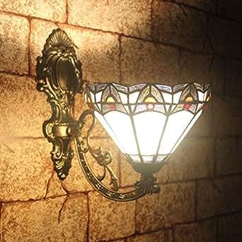 ALUS-8 inch Mermaid Cafe Restaurant wall lamp minimalist chic Tiffany wall sconce