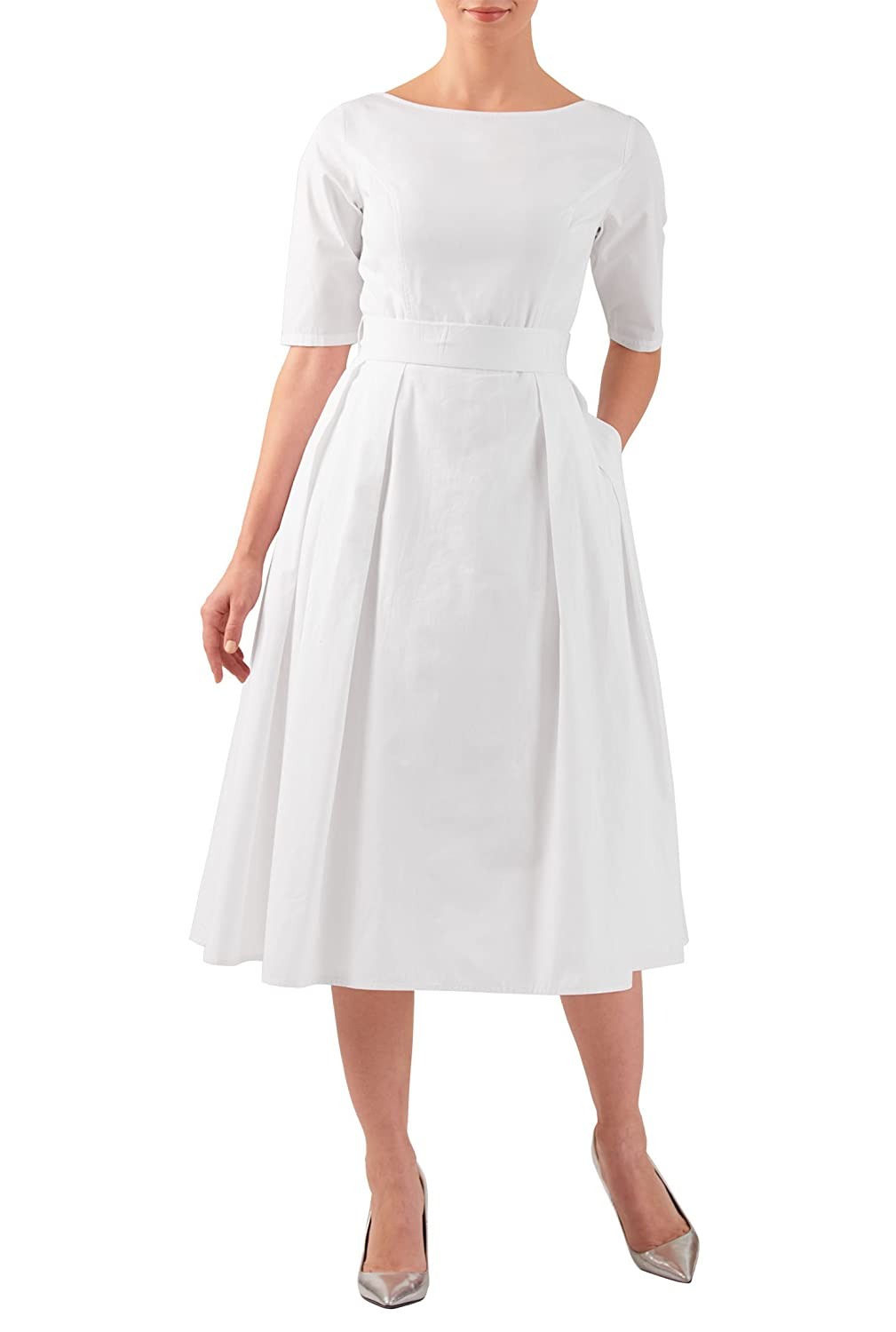 60s Wedding Dress | 1960s Style Wedding Dresses eShakti Womens Quincy dress $49.95 AT vintagedancer.com