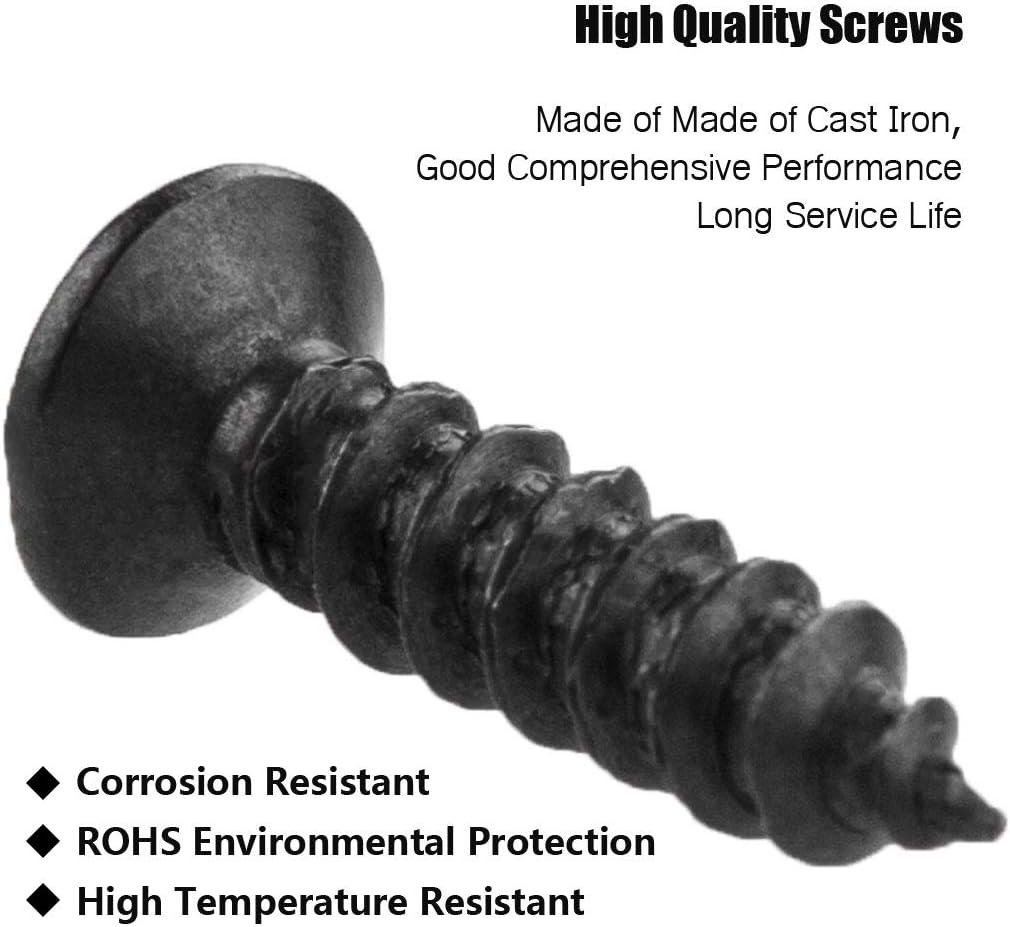 100pcs Wood Screws Set,Self Tapping Screws M4 x 16mm