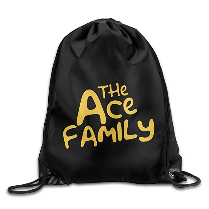 722c0aebca92 Katie P. Hunt The Ace Family Casual White Travel Backpack One Size  Polyester Drawstring Bag