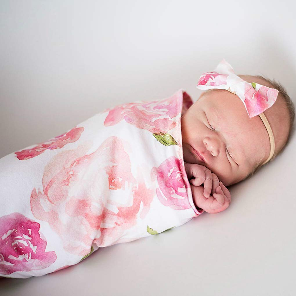 Windy5 Neugeborenes Baby-Fotografie Props Wraps-Baby-Schlafsack Baby Bowknotstirnband Posing Swaddle Abdeckung