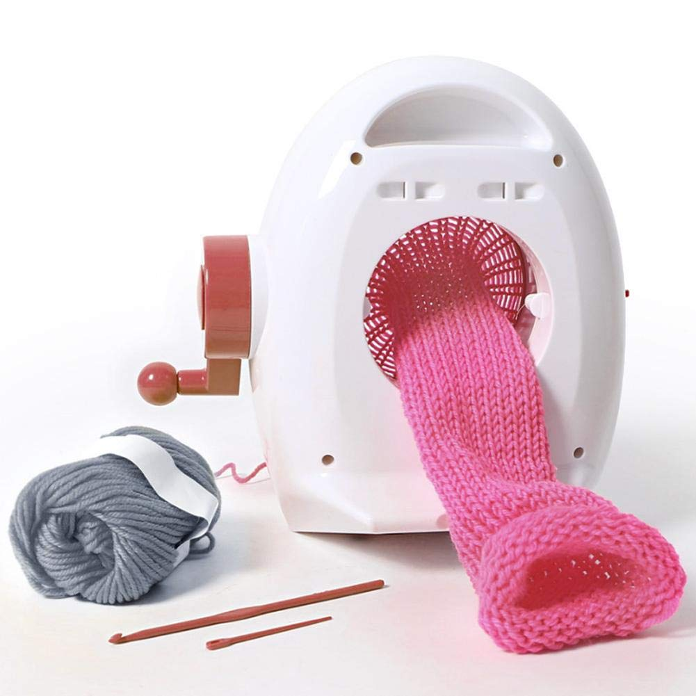 Zerodis Handmade Weaving Knitting Machine Round Knitting Looms Kit DIY Sewing Toy Set Educational Toy for Children Handmade Hat Scarves Sweater