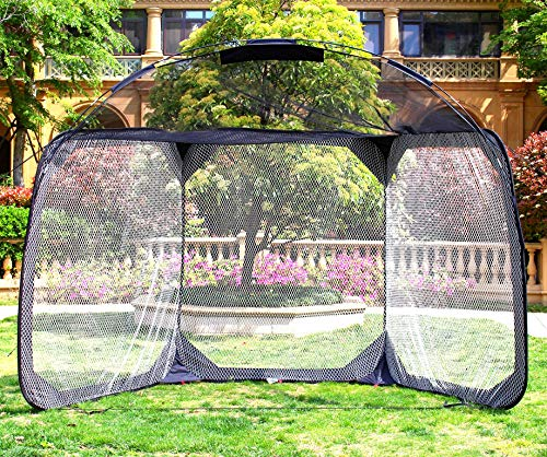 GALILEO Batting Cage Backstop Net Baseball Practice Net with Carry Bag Baseball Practice Screens 11.5'(L) X6'(W) X9.6'(H)