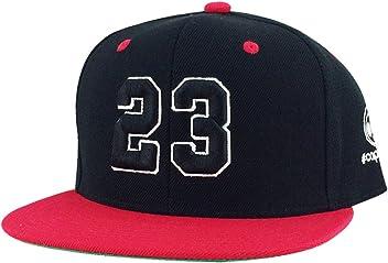 5ea572a6e95 Number  23 Black White Red Visor 2tone Hip Hop Snapback Hat Cap X Air Jordan