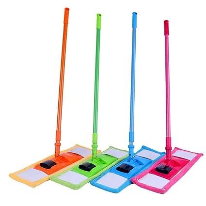 Buram Plactic Microfiber Chenille Dust, Wet and Dry Mop (Multicolour)