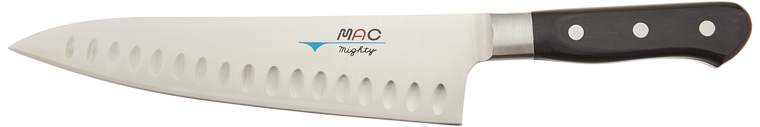 Mac Knife MTH-80 Professional Hollow Edge Chef's Knife, 8 Inch, Silver by Mac Knife