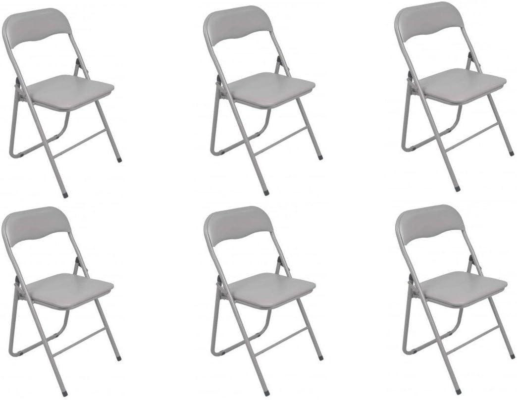La Chaise Espagne S/éville Pack de chaises Pliantes Mousse Bleu 46/x 43,5/x 78/cm Lot de 6 Aluminium