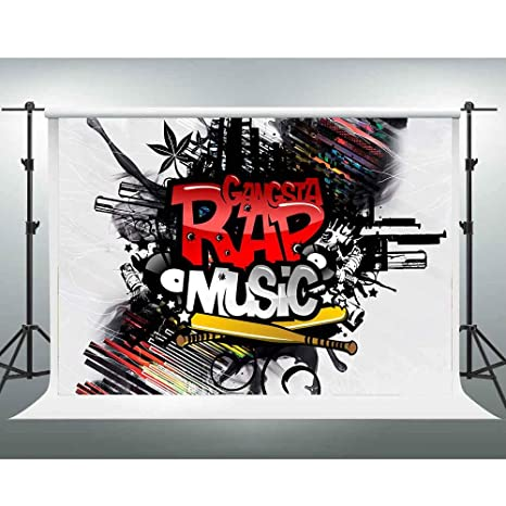 Amazon com : GESEN Background 10x7ft Rap Music Photo Background