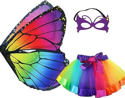 Girls Fairy Wings Kids Butterfly Shape Fancy Beautiful Shawl Chiffon Costume