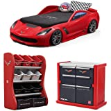 Step2 Corvette z06 Convertible Toddler to Twin Bed with Lights, Step2 Corvette Room Organizer, Step2 Corvette Tool Chest Dresser, Kids Bed, Kids Furniture, Toys Storage, Kids Dresser