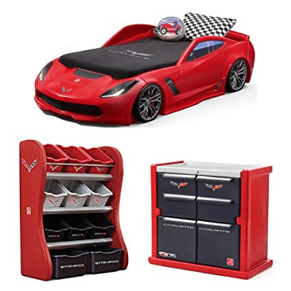 Amazon.com: Step2 Corvette z06 Convertible Toddler to Twin Bed
