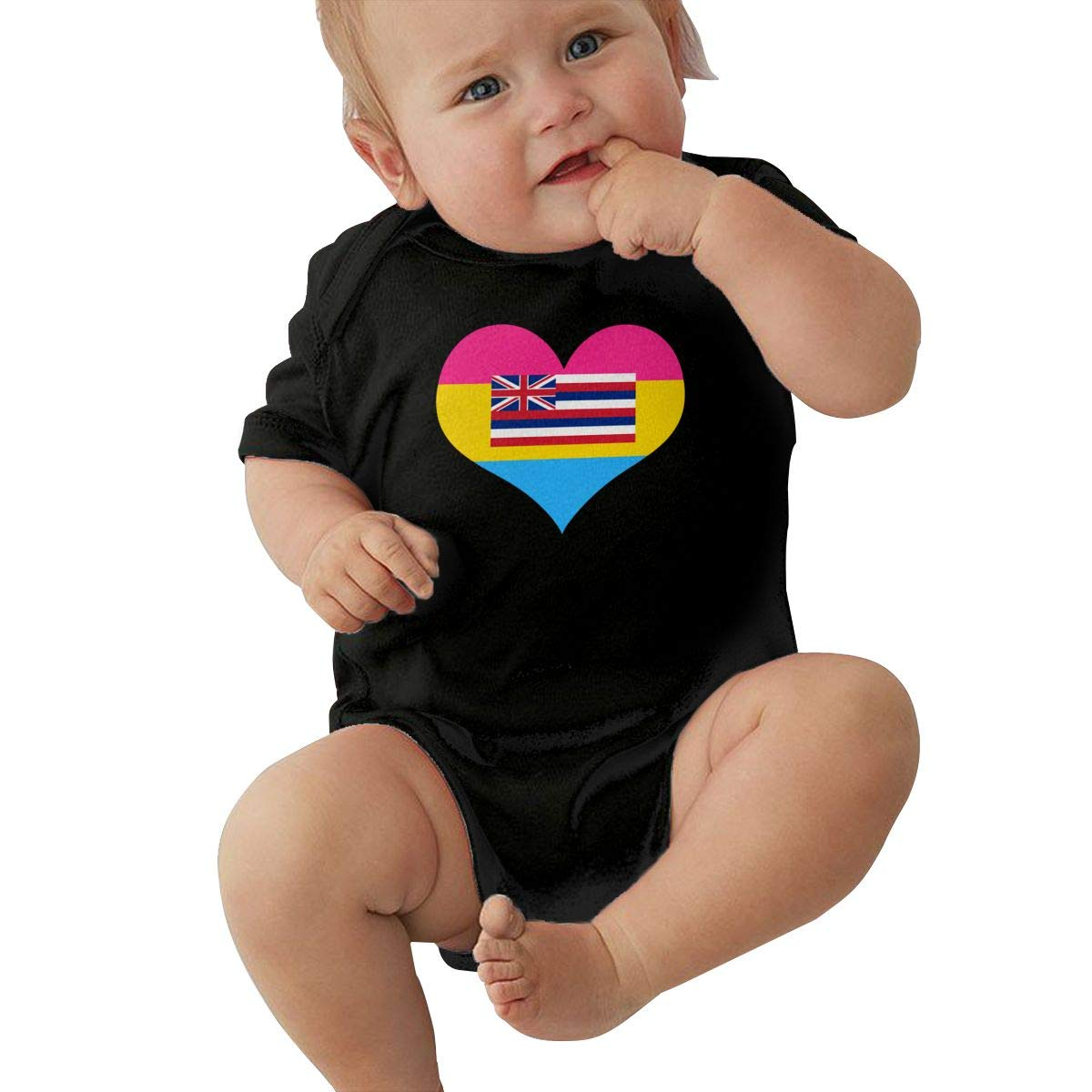 Suit 6-24 Months TAOHJS97 Toddler Pansexual Heart Hawaii State Flag Short Sleeve Climbing Clothes Bodysuits