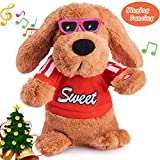Musical Dancing Singing Electronic Dog Interactive puppy Pet Toy Animated Pet , Flying Ears, Rock Body, Singing 6 Songs Plush Dog Toys for r Girls Boys Kids Toddlers Baby Toy Gifts