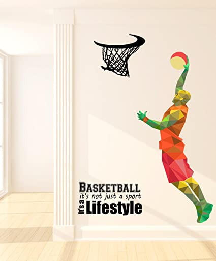 Luke and lilly basketball lifestyle wall sticker pvc vinyl145cm x 200cm