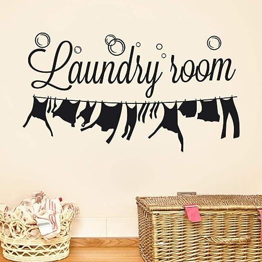 Amazon Com Finedayqi Laundry Room Home Decor Wall Sticker Decal Bedroom Vinyl Art Mural Home Kitchen