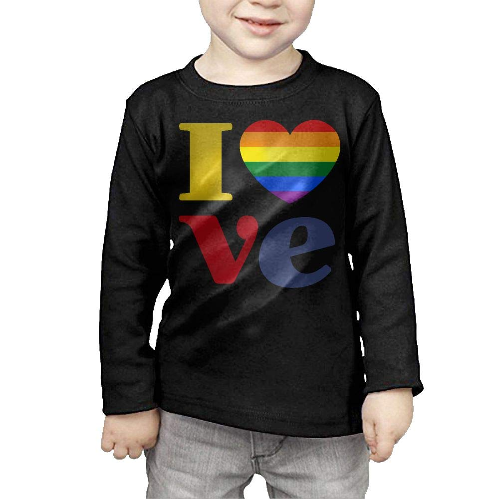 Baby Girls Kids LGBT Gay Pride Love ComfortSoft Long Sleeve T-Shirt