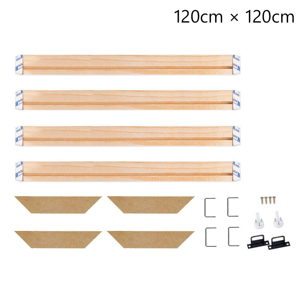 Stretcher Bars,Wood Canvas Frame Kit,DIY Canvas framm for Oil Painting,Art Stretcher Bars 30x50cm 12x20 Inch