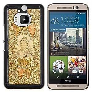 YiPhone /// Prima de resorte delgada de la cubierta del caso de Shell Armor - Real Retrato artístico de la mujer Pintura Reina - HTC One M9Plus M9+ M9 Plus