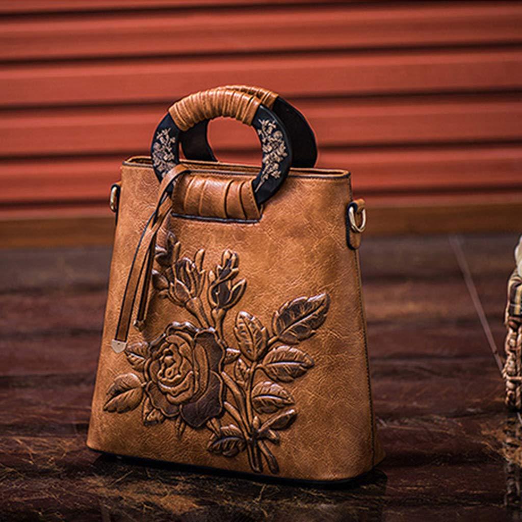 Kofun Schultertasche für Damen, Damen, Damen, Blaumen-Handtasche, Leder, Schultertasche, Handtasche - braun B07NKNXTPR Schultertaschen Verrückter Preis 1e27e6