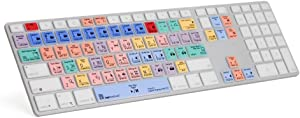 LogicSkin Adobe Premiere Pro CC Keyboard Cover Compatible with Apple Keyboard with Numeric Keypad - LS-PPROCC-M89-US