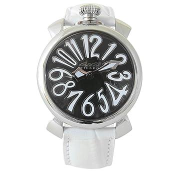 ガガミラノ メンズ MANUALE ACCIAIO 40mm 5020.4 マヌアーレ 腕時計 ブラック×ホワイト