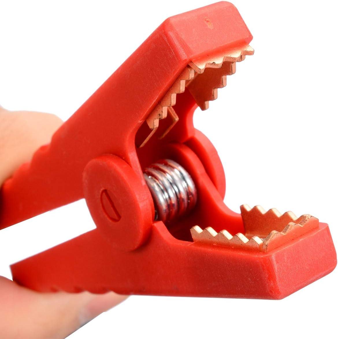 Without brand SY-EYUJ Size : 95mm 2ST Krokodil Abgreifklemme Ganz isoliert 100A Autobatterie Alligator Pr/üfklemmen Clips for Batterieladeger/äte