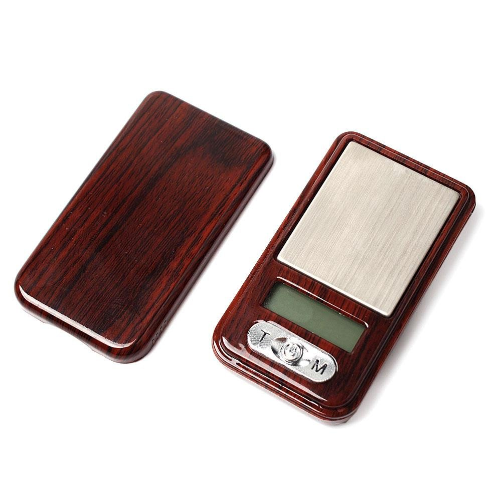 Eachbid 100g x 0.01g Gold Balance Weight Scale Wood Electronic Scale