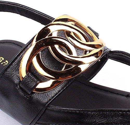 Nouvelle Mode Été Faux En Cuir Facile De Glisser Sur La Boucle Dorsale Sandales Femmes Casual Appartements Chaussures Nouvelle Sans Boîte Noire